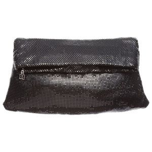 BCBGMaxAzria Bags - BCBGMaxazria Brighton black mesh clutch bag New